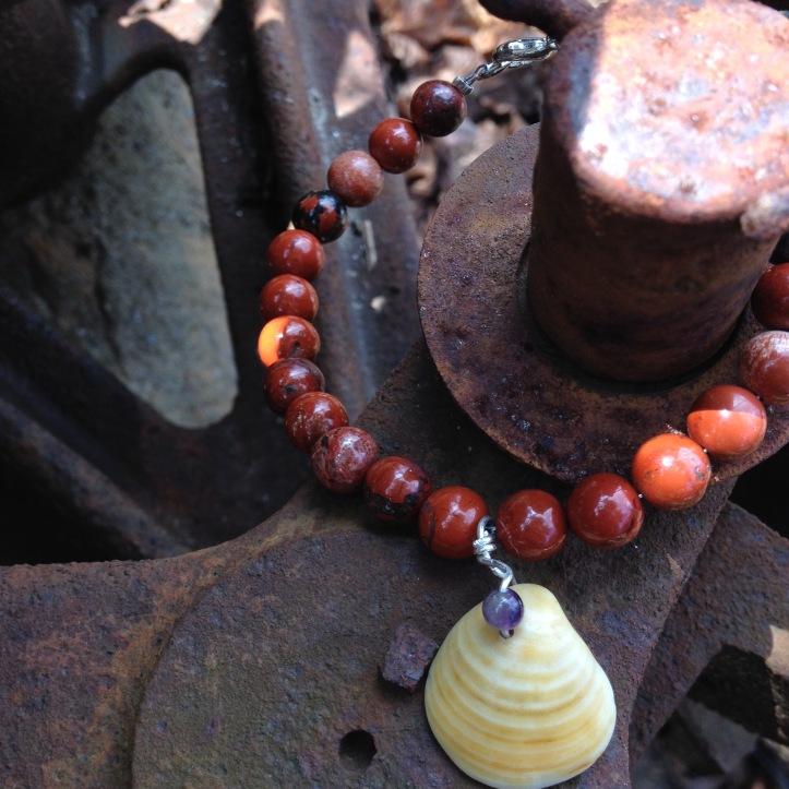Earthy Red Rock Jasper bracelt
