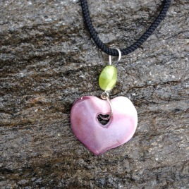 Valentine's Day Gift - A Sweet Wampum Heart Necklace
