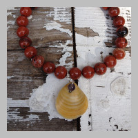 RED-ROCK-JASPER-SHELL-YOGA-BRACELET
