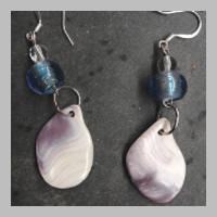 WAMPUM-BLUE-BEAD-EARRINGS